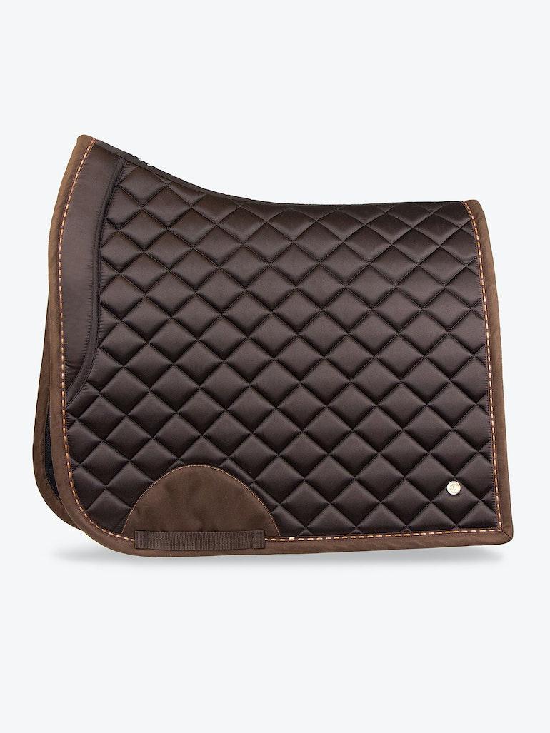 Saddle Pad Dressage Brown Suede