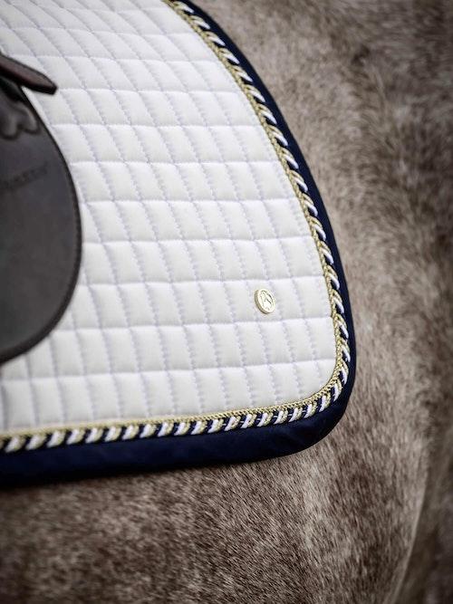 Saddle Pad Jump White/Navy